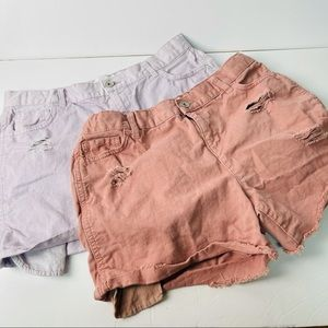 Children's place bundle of 2 distressed shorts